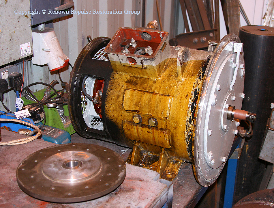 Traction motor blower overhaul commences
