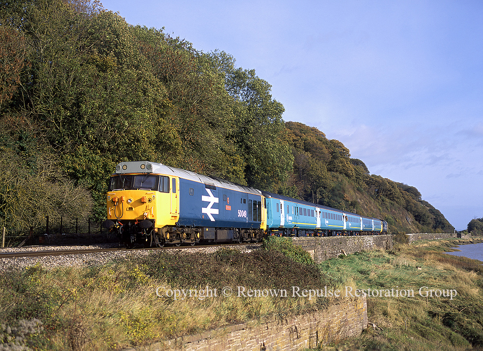 50049 top-n-tail with 50031 between Chepstow and Gloucester