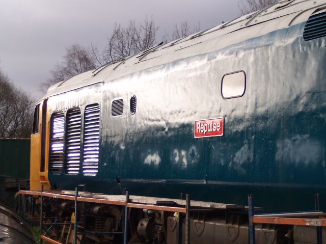 50030 bodywork restoration is nearly complete in December 2003