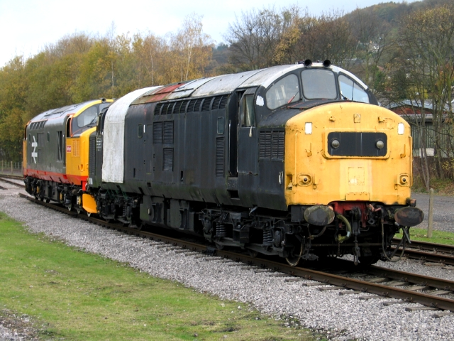 37188 and 37152 at Rowsley