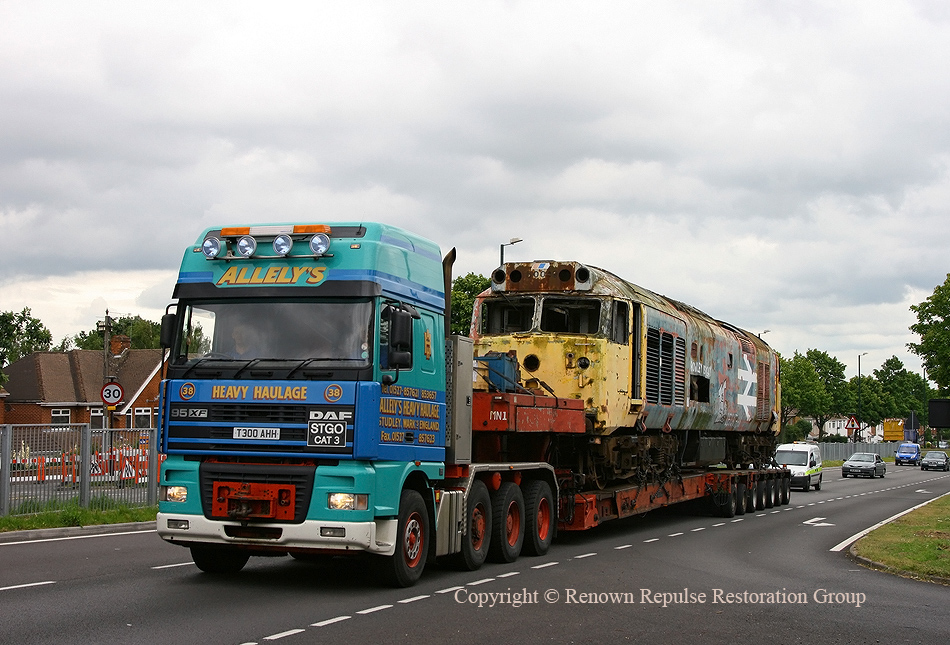 50040 leaving Coventry on the A45