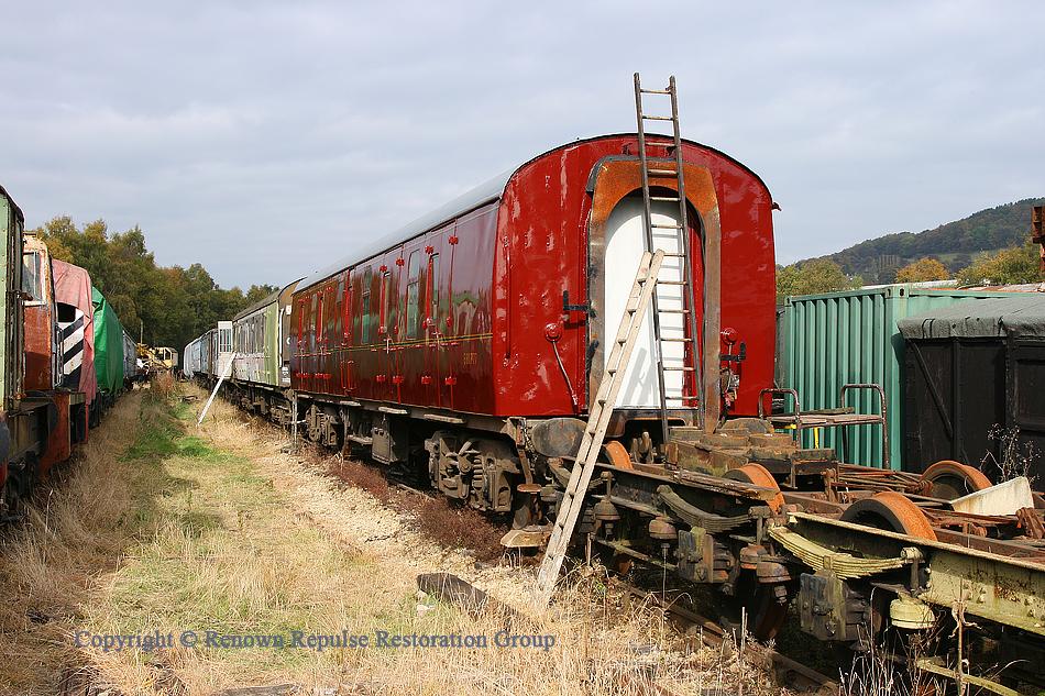 Mark 1 BG 80777 under restoration for Peak Rail use