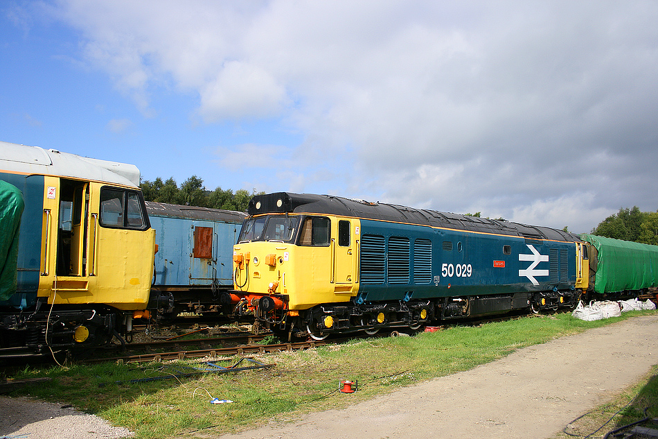 50029 and 50030 at Rowsley on 16th September 2007