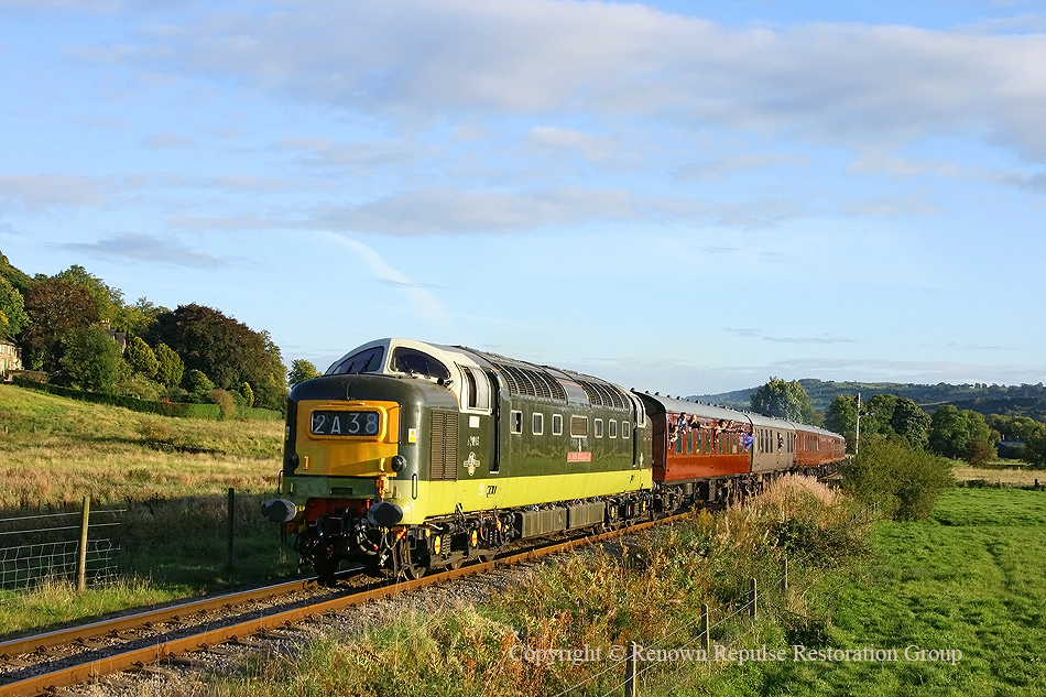 D9016 heading towards Rowsley for the last time