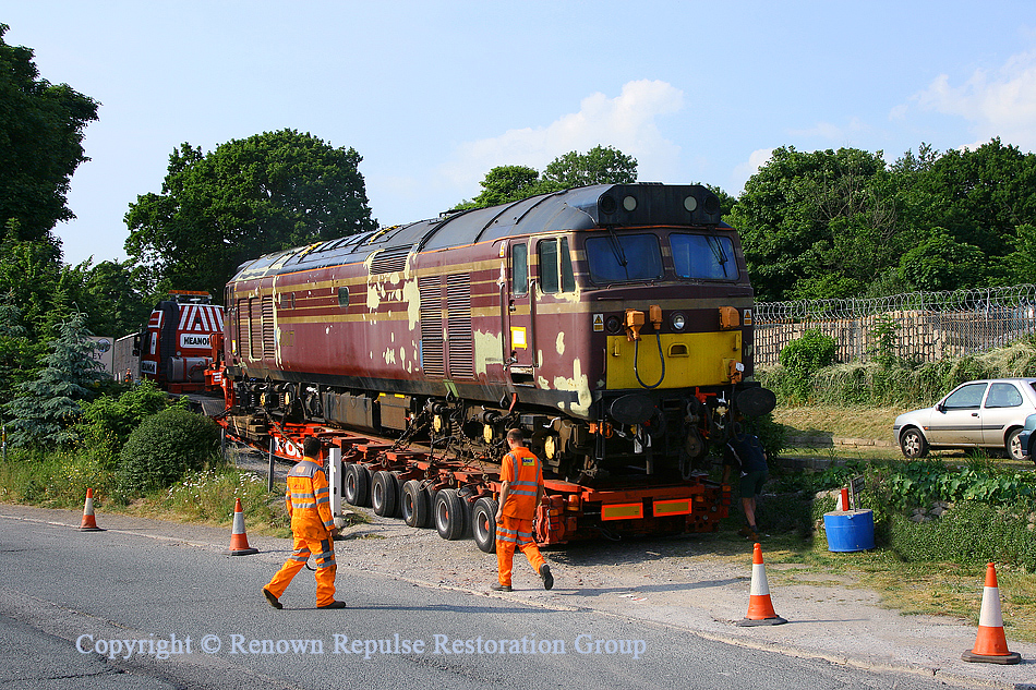 50017 arrives at the Plym Valley Railway