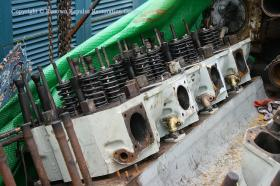 Four refurbished cylinder heads