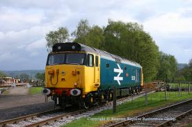 50029 on the approach road to Rowsley turntable