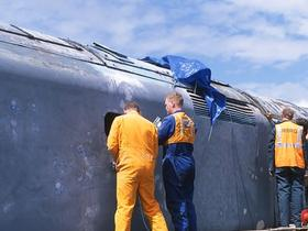 50030 bodywork restoration at Rowsley in early 2003