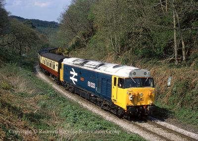 50033 at Beck Hole (NYMR) 25 April 2004