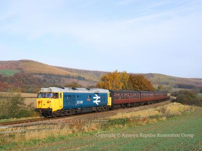 50049 near Battersby in November 2007
