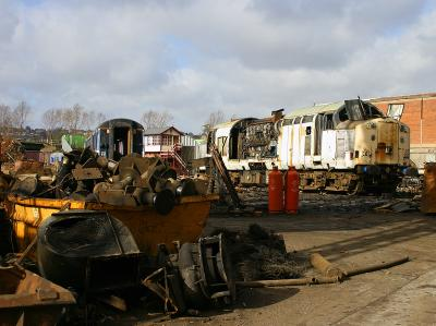 37519 with a pile of ex-312 parts in the foreground