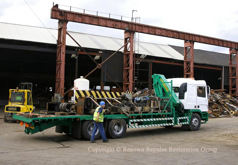 Spares lorry loaded at Booths
