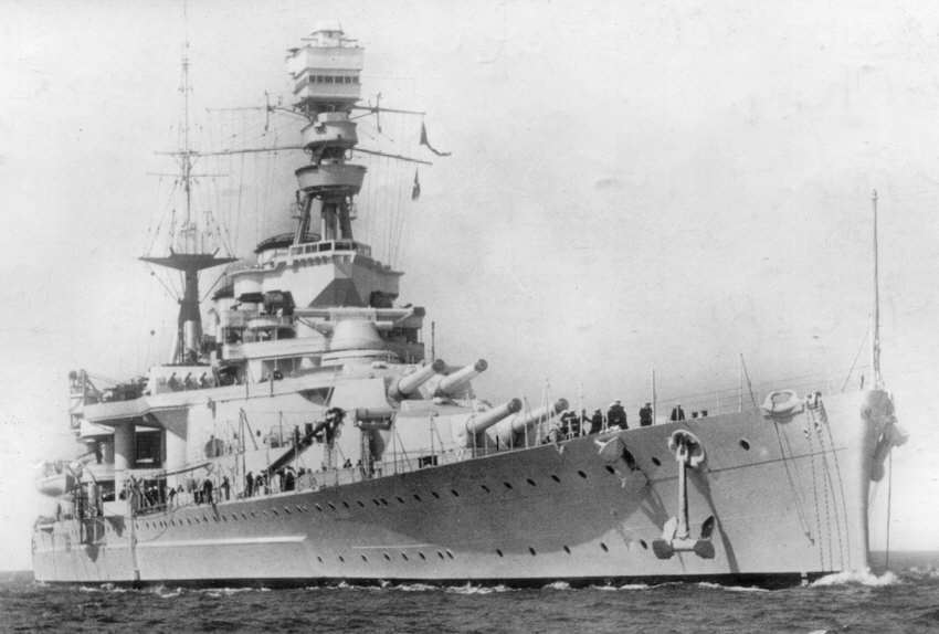 HMS Repulse in 1936