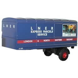 Oxford Diecast two-piece LNER trailer set 76MH004T